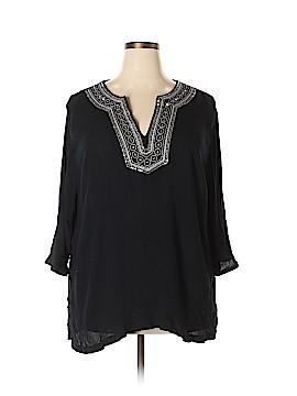 Cathy Daniels 3/4 Sleeve Blouse Size 3X (Plus)
