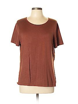Jones New York Collection Short Sleeve Silk Top Size XL