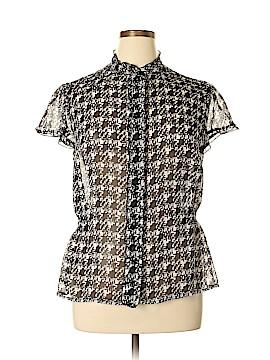 Lane Bryant Short Sleeve Blouse Size 14 (Plus)