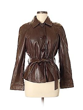 Jones New York Signature Faux Leather Jacket Size M