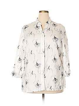 Susan Bristol 3/4 Sleeve Button-Down Shirt Size 2X (Plus)