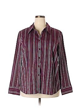 Lane Bryant Outlet Long Sleeve Blouse Size 22 (Plus)