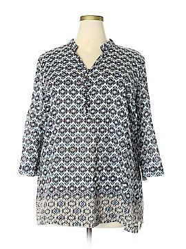 Liz & Co 3/4 Sleeve Blouse Size 2X (Plus)