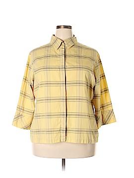 Bechamel 3/4 Sleeve Button-Down Shirt Size 2X (Plus)