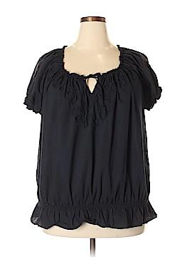 North Crest Short Sleeve Blouse Size 3X (Plus)