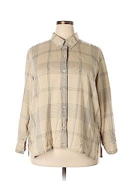 Elisabeth by Liz Claiborne Long Sleeve Button-Down Shirt Size 2X (Plus)