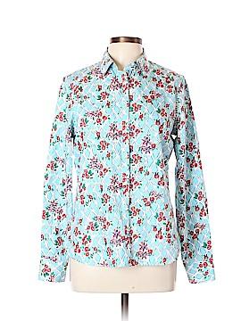 Lands' End Long Sleeve Button-Down Shirt Size 10