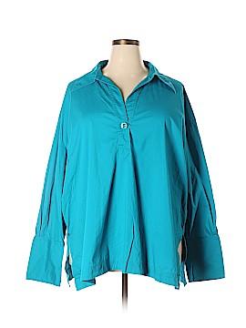 Go Silk Long Sleeve Blouse Size 2X (Plus)
