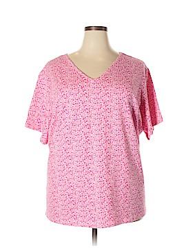 Basic Editions Short Sleeve T-Shirt Size 4X (Plus)