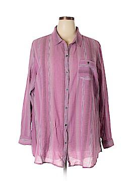 Ruff Hewn Long Sleeve Blouse Size 3X (Plus)