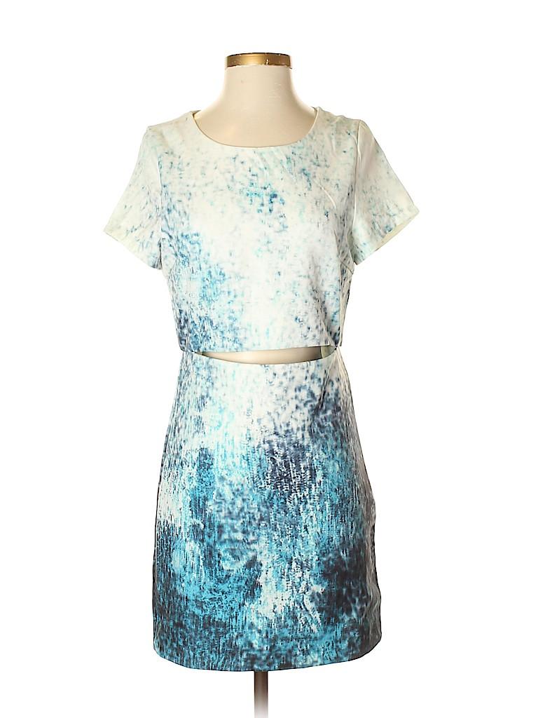 f7dec97dd9 TOBI 100% Polyester Print Blue Casual Dress Size S - 67% off