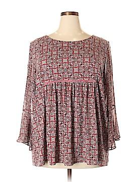 Roz & Ali 3/4 Sleeve Blouse Size 2X (Plus)