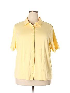 Studio Works Short Sleeve Button-Down Shirt Size 3X (Plus)