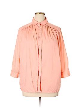 Liz Claiborne 3/4 Sleeve Button-Down Shirt Size 16