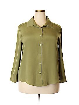 Louben Long Sleeve Silk Top Size 16