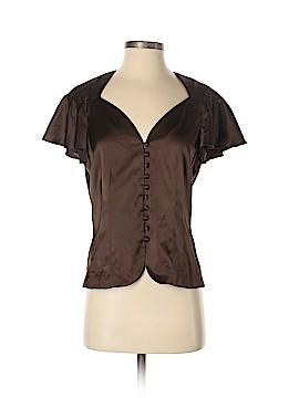 Trina Turk Short Sleeve Silk Top Size M