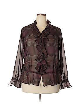 Chaps Long Sleeve Blouse Size 1X (Plus)