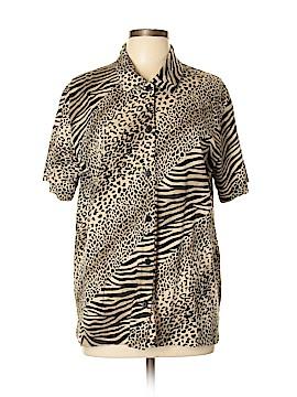 Designers Originals Short Sleeve Button-Down Shirt Size XL