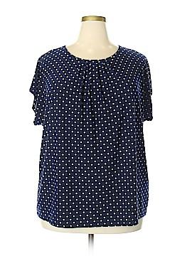 Chaps Short Sleeve Button-Down Shirt Size 3X (Plus)