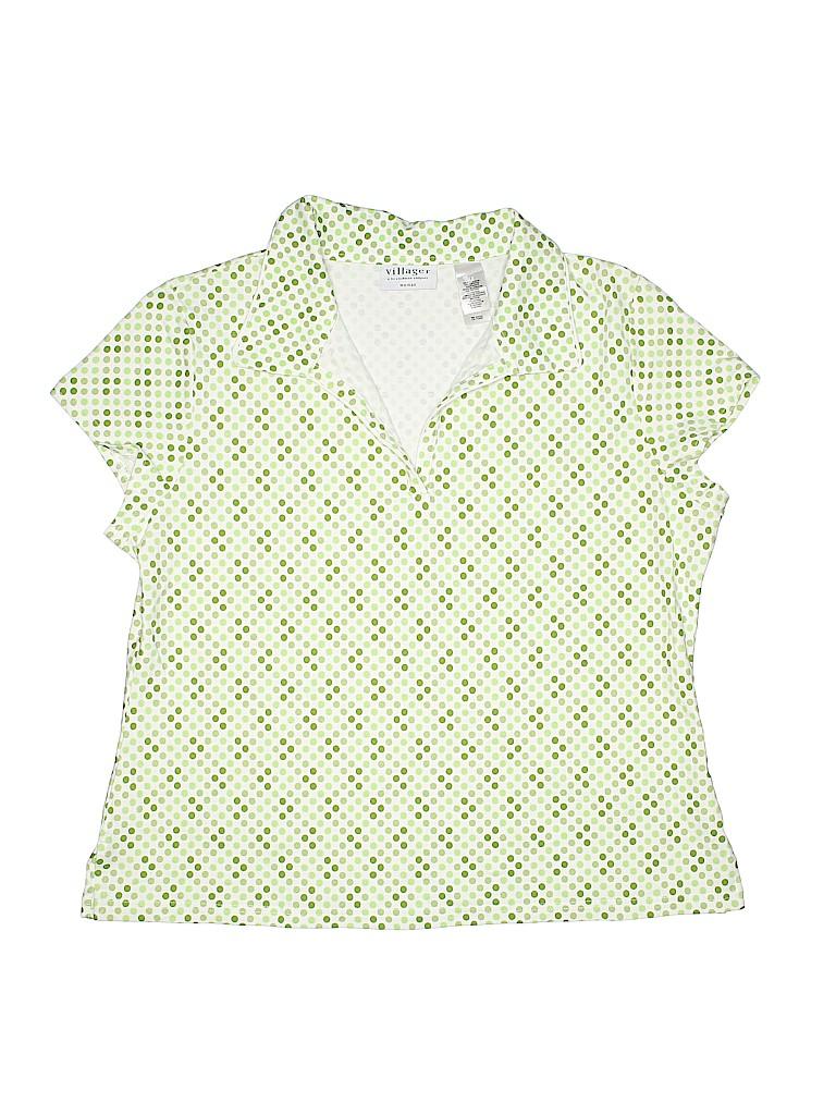 Villager Women Short Sleeve Polo Size 1X (Plus)