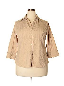Millenium 3/4 Sleeve Button-Down Shirt Size 1X (Plus)