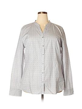 Cutter & Buck Long Sleeve Button-Down Shirt Size XXXL (Plus)