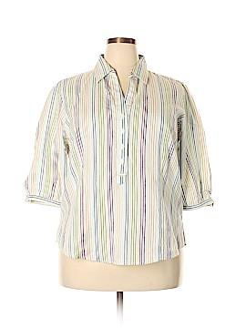 DressBarn 3/4 Sleeve Button-Down Shirt Size 1X (Plus)