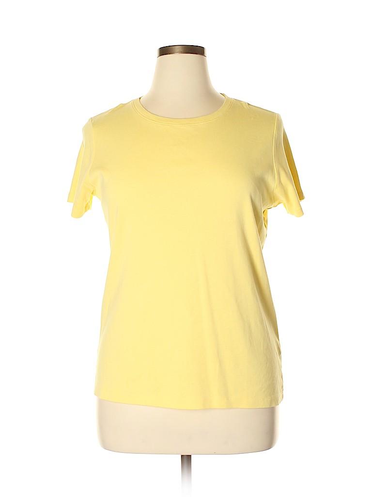 St. John's Bay Women Short Sleeve T-Shirt Size XL