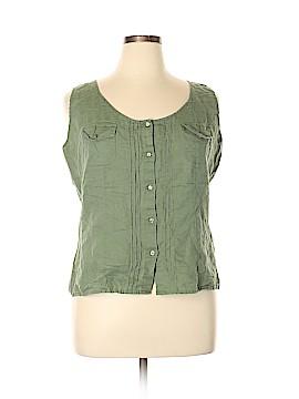 Liz & Co Sleeveless Button-Down Shirt Size XL