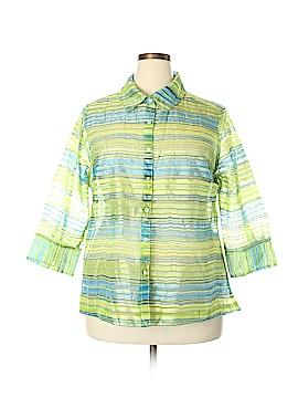 Kim Rogers 3/4 Sleeve Blouse Size 2X (Plus)
