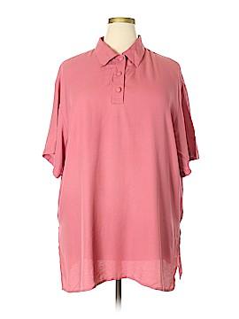 Impressions Short Sleeve Blouse Size 24 (Plus)