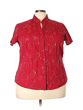 St. John's Bay Short Sleeve Blouse Size 2X (Plus)