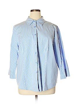 Jessica London 3/4 Sleeve Button-Down Shirt Size 22 (Plus)