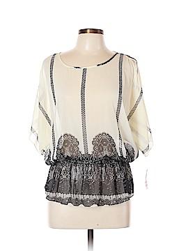 INC International Concepts Short Sleeve Blouse Size 10