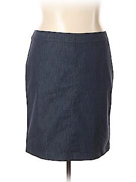 Kelly By Clinton Kelly Denim Skirt Size 20 (Plus)