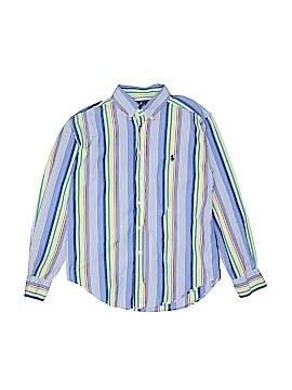 Ralph by Ralph Lauren Long Sleeve Button-Down Shirt Size 8 - 10