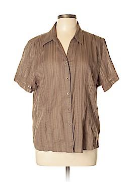 Cappagallo Short Sleeve Button-Down Shirt Size XL