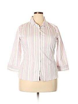 Merona 3/4 Sleeve Button-Down Shirt Size 1X (Plus)