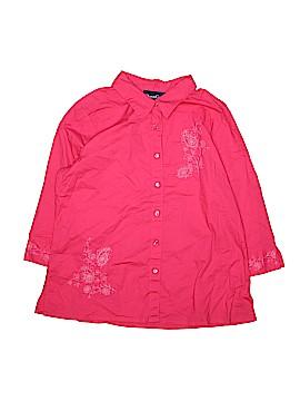 Denim Co 3/4 Sleeve Button-Down Shirt Size XL
