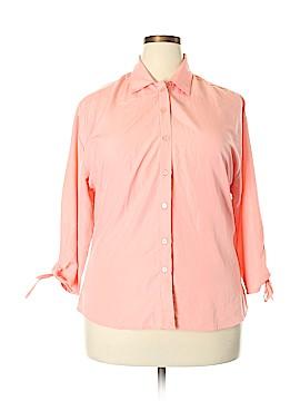 UNITI 3/4 Sleeve Button-Down Shirt Size 3X (Plus)