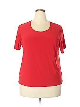 Susan Lawrence Short Sleeve Top Size 2X (Plus)