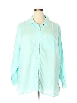 Crazy Horse by Liz Claiborne Long Sleeve Button-Down Shirt Size 2X (Plus)