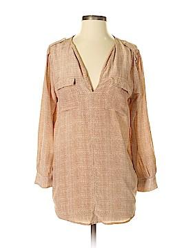 Joie a La Plage Long Sleeve Silk Top Size S