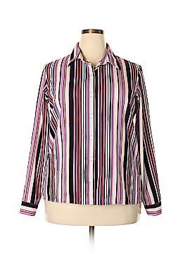 Breckenridge Long Sleeve Button-Down Shirt Size 18 (Plus)