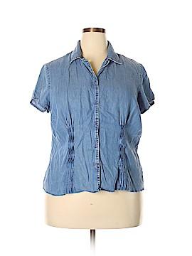 Emma James Short Sleeve Button-Down Shirt Size 18 (Plus)