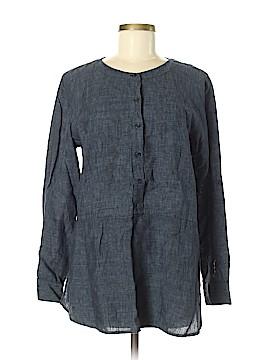 Eileen Fisher Long Sleeve Button-Down Shirt Size M (Petite)
