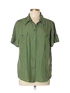 Joanna Short Sleeve Button-Down Shirt Size XL (Petite)