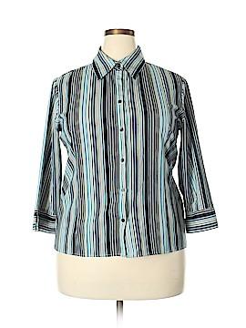Fred David 3/4 Sleeve Blouse Size XL