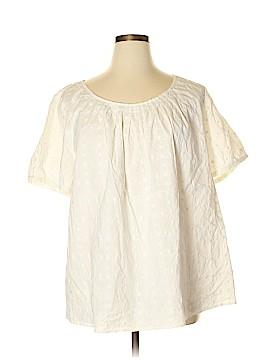 Liz & Co Short Sleeve Blouse Size 3X (Plus)