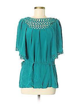 Cache Short Sleeve Silk Top Size M